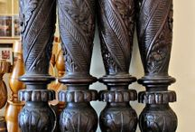 Antique Bedposts