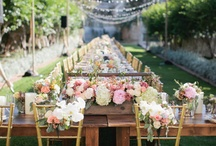 Wedding Table Decor / Wedding Tables that are GORGEOUS! Centerpieces, lighting, place settings, flatware, decorations, etc.