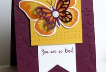 Watercolour wings - stampin up