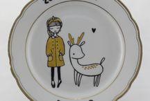 Upcycled Vintage Plates / handpainted vintage plates, upcycling Online Shop: http://omasteekanne.at/produkt-kategorie/teller/