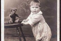 vintage foto dětičky