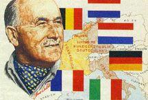 HISTOIRE DE LA CONSTRUCTION EUROPEENNNE / Qui est Jean Monnet? Qui est Robert Schuman? Qu'est-ce que la déclaration Schuman (9 mai 1950)? Qu'est-ce que la CECA (communauté européenne du charbon et de l'acier)? Comment est-on passé d'une Europe à 6 à une Europe a 28?