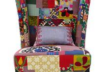 Fauteuils patchwork