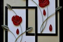 Quilled flower twin photoframe