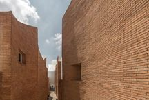 Thick brick building