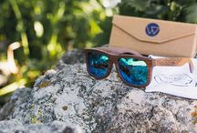 Wicked Ceres - The light Wooden Sunglasses with engraved Tribal that float