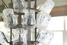 Water glass holder