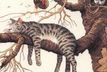 cats cross stitch patterns