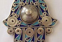 Hamsa / Ethnic Gifts, Bohemian, Home Decoration, Interior Design, Jewelry