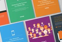 Mobile App Development Whitepapers and E-Books / Beautiful images from Buzinga's E-books on how to build successful mobile applications. Includes Mobile App Marketing guides, secrets to building successful tech products, crowdfunding and investor pitching guides + more.