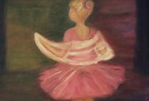 art / art oil painting drawing ballerina