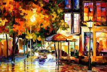 Schilderijen van Leonid Afremov