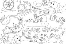 Design printable Coloring pages for children book