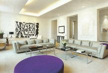 Color Mood: PURPLE / French Decor, purple touch in a monochromatic look. Design from France