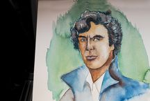 Watercolordrawing of Benedict Cumberbatch by Peter Schunk / Look the Coloration of my Benedict Cumberbatch Drawing DrStrange  https://www.youtube.com/watch?v=tnlPsUiXBx0