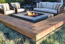 Garten Terrasse feuerstelle / Feuerstelle