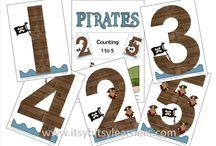 Thema: Piraten (kleuters) / Lesideeën voor het thema Piraten.