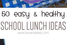 Kids School Lunch Ideas / Easy and fun lunch ideas for the kiddos.
