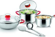 Cookware / http://bit.ly/1vTdJt4  CGShop10 brings you Cookware products like pots, pans, tawas, cutlery, storage containers, pressure cookers and such from well known brands like Piegon, Hawkins, Prestige, WellBerg, Tefal and many more...  http://bit.ly/1vTdJt4