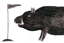 all about boars. / dmitry geller. artworks. for sale. 21x29. chinese ink. paper \ рисунки дмитрия геллера. работы продаются.