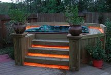Hot tub & fireplace ideas