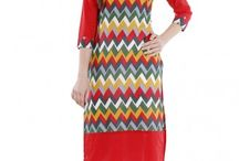 #Red Color #Casual_wear Kurti Only In styloshopping.com