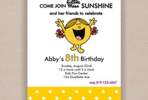 Girl's Birthday Invites and Wrap