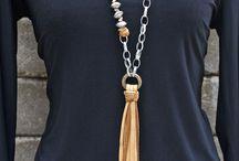 Deer leather Tassel Necklaces