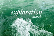 March - Exploration / This is the board for the month of March, dedicated to exploration. / by Mademoiselle Robot