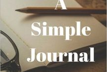 Books to Journal / Journals, Writing, Diaries, Books by Jean M Cogdell, Line a day,