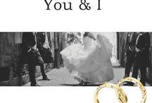 Alianzas You & I / #Alianzas #boda con vuestros nombres grabado en el lateral de la alianza, una colección única y personalizada.