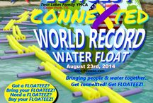World Record Setting Event / FLOATEEZ and YMCA of Greater Williamson County teamed up to create the World's Longest Inter-Connected Water Float!