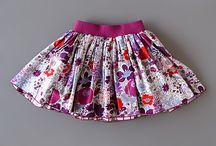 Kids clothes / Reversible skirt