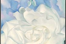 Georgia O'Keeffe (1887–1986) / Active at different moments of her long career in New York, Hawaii, and New Mexico, O'Keeffe drew upon a range of sources—including Art Nouveau and European Symbolism—as she developed her own iconic style. Her bold works hover at the boundary between realism and abstraction. Through them she asks us to experience her powerful vision of the natural world.  / by MFA Boston
