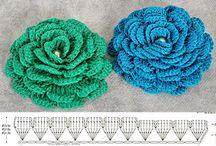 Crochet flowers and leaves / by Olesya Nizhegorodova