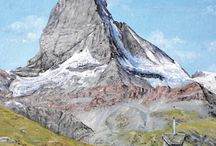 Mountains by Mark F Lodge / Mark's paintings are sold and exhibited around the world but only on Doodle Doo can you choose one of his images for a personalised greetings card. Choose your image and card size, add your message and select your charity. From £3.99 with free delivery. Bargain!!