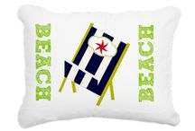 Beach Home / Beach inspired home decor products using Drape Studio original designs.  Pillows, blankets, bedding, towels, rugs, shower curtains even t-shirts and flip flops.  Also great gift ideas with seashore inspired themes!