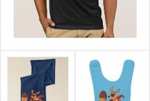 Cute Cartoon Kangaroos T-Shirts, gifts and merch collections by Cheerful Madness!! at Zazzle