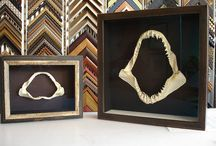 Shadow Boxes - Custom Framing with Depth / Some of our favorites designs all using archival practices with Mylar stips, washi hinges, hand stitched fabrics.