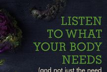 """Intuitive Nutrition / Eating exactly what your body needs~we can learn what this is when we get quiet & still & listen carefully. This means eating seated & in a calm way. When we """"tune in"""" we use our intuition and we uncover what makes our bodies, minds, & spirits flow in health & abundance"""