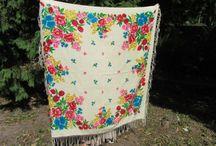 Vintage Shawls / Gorgeous Ukrainian and not, vintage shawls!
