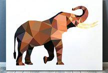 geometrical animal