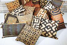 Kuba Cloth African Pillows