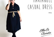 2015 - Mariangel Casual Dress / Dress which specially designed for sophisticated curvy women originally made by Indonesian Designer & Local Brand: Ella Es Bonita.