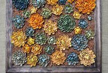 çam fıstığı kabuğundan çiçek yapımı