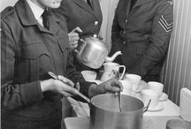 Food for thought... / Food and cooking play important roles in the armed forces. They can provide moments of comfort, levity and stability in uncertain times or unfamiliar places. Sitting down to break bread with another person is a vital way to bond and build camaraderie. Our collection contains many objects, archives and photographs related to the cooking, eating and sharing of food...