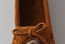 Moccasins / I prefer real moccasins without a separate heel but I'll wear the more contemporary ones just because I think they are so danged cool.