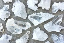 White and Clear Crystals / White is the color of purity, clarity and new beginnings. Clear or white crystal jewelry and white bracelets carry purifying vibrations that can be used to clear energy blockages from your body and path.