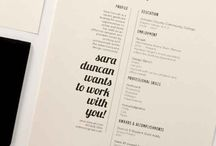 DESIGN | CV / A collection of CV examples that serve as an inspiration