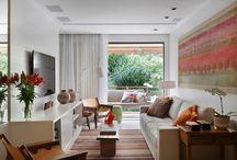 Social Apartamento (sala + cozinha + área de serviço)